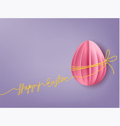 Background with paper egg vector