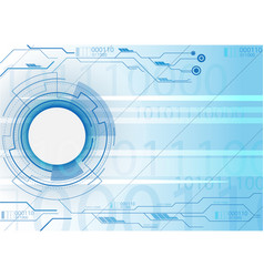 blue background technology vector image