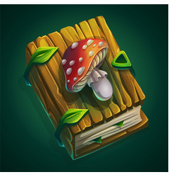 cartoon thick book with a vector image