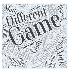 computer game programming Word Cloud Concept vector image vector image