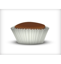 Cupcake in white cup vector