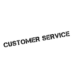 Customer service rubber stamp vector