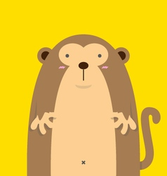 cute big fat monkey vector image vector image