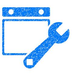 Date setup grunge icon vector