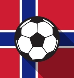 Football icon with norway flag vector
