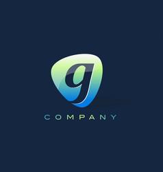 g letter logo oval shape modern design vector image