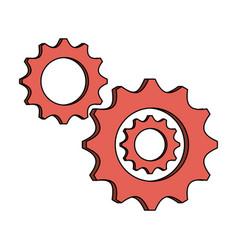 Gears icon image vector
