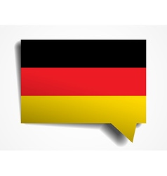 germany paper 3d realistic speech bubble on white vector image