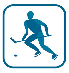 ice hockey emblem vector image