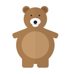 Isolated teddy bear vector