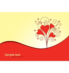 Love Valentine background vector image
