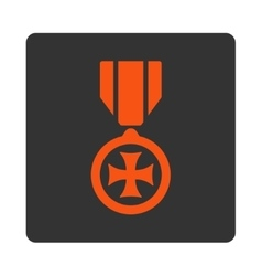 Maltese cross icon from award buttons overcolor vector