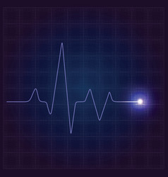 medical blue background vector image