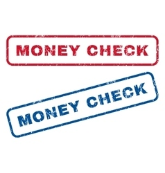 Money check rubber stamps vector