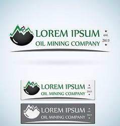 Oil gas company logo design template color set vector