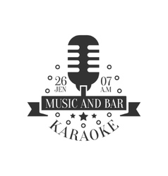 Old-fashioned microphone karaoke premium quality vector