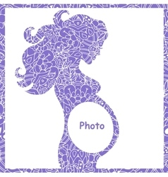 original of pregnant girl frame vector image