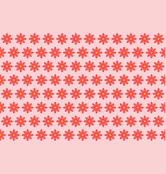 Pattern from abstract red flower vector