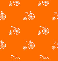 Penny-farthing pattern seamless vector