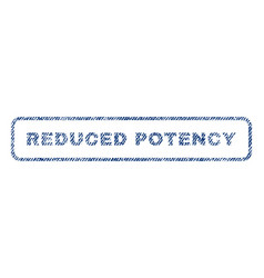 Reduced potency textile stamp vector