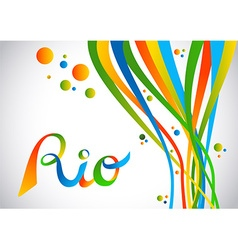 Rio brazil color design with shapes for sport game vector