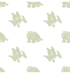 seamless pattern of cartoon Dinosaur vector image