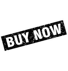 Square grunge black buy now stamp vector