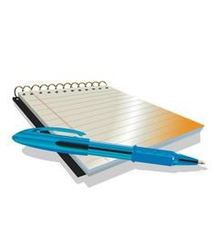 vector illustraition of elegant pen and notebook vector image vector image