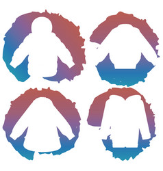 white coat silhouettes on colorful splashes vector image vector image