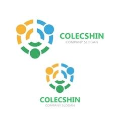 Connection logo idea template vector image