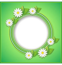 Spring or summer background with decorative flower vector