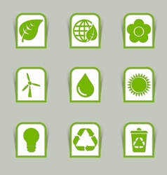 Ecological icon sticks vector
