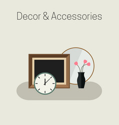 Home decor and accessories vector