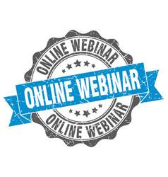 Online webinar stamp sign seal vector