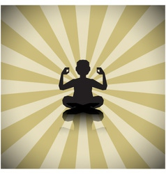 Abstract meditating people background vector