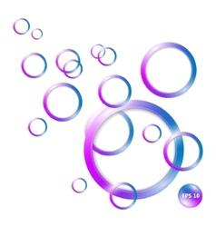 Circle 3D abstraction background vector image