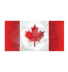 Canada flag low poly design vector