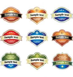 Label assortment vector