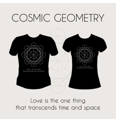 Cosmic geometry t-shirt vector
