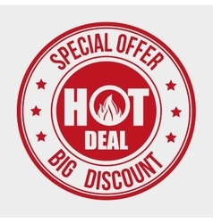Shopping hot offers and discounts vector