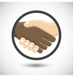 International business people shaking hands vector image
