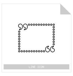 Quote box isolated linear icon vector