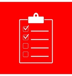 Checklist sign vector