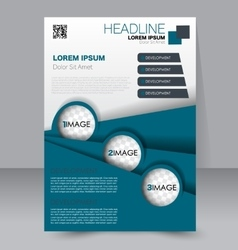 Brochure template business flyer vector
