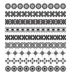 Arabic frame ornament pattern brush set vector