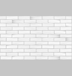 brick wall white texture seamless pattern vector image vector image
