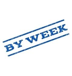 By week watermark stamp vector