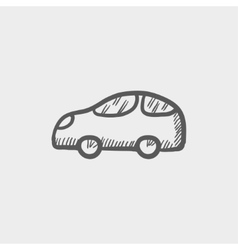 Car sketch icon vector image
