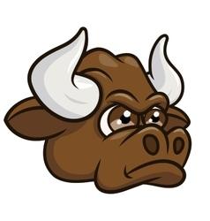 Cartoon angry bull head 2 vector