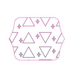 Color edge quadrate with memphis style geometric vector